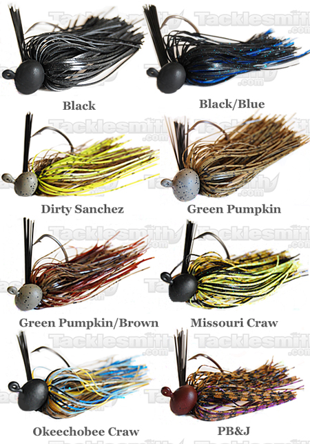 Eco Pro Tungsten Jared Lintner Football Jig Color Chart